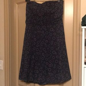 ec4a808f7d1 American Eagle Outfitters Dresses - American Eagle Navy Blue Strapless Dress
